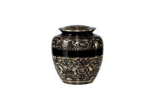 Graveeritud messing urn